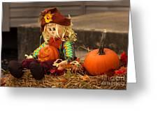 Halloween Doll Greeting Card