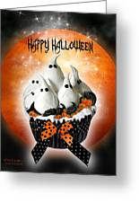 Halloween Ghost Cupcake 1 Greeting Card