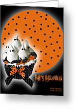 Halloween Ghost Cupcake 2 Greeting Card
