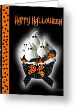 Halloween Ghost Cupcake 3 Greeting Card