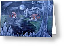 Halloween In The Swamp Greeting Card