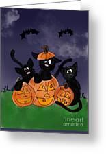Halloween Kittens Greeting Card