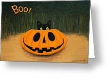 Halloween Kitty Boo Greeting Card