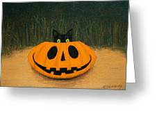 Halloween Kitty Greeting Card
