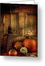 Halloween Night Greeting Card by Sandra Cunningham