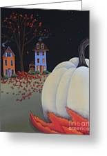 Halloween On Pumpkin Hill Greeting Card