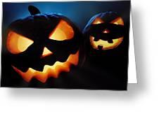 Halloween Pumpkins Closeup -  Jack O'lantern Greeting Card