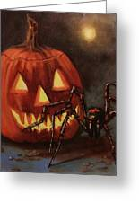 Halloween Spider Greeting Card