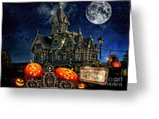 Halloween Spot Greeting Card by Mo T