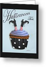 Halloween Treat Witch Cupcake Greeting Card
