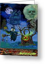 Halloween Witch's Coldron Greeting Card