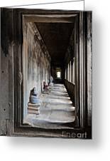 Hallway At Angkor Wat Greeting Card