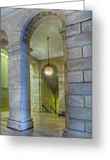 Hallway New York Public Library Greeting Card