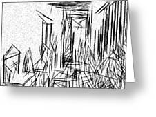 Hallway Of Distortion Greeting Card