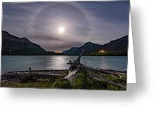 Halo Around The Solstice Moon Greeting Card