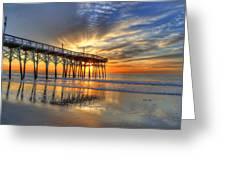 Halo Pier Sunrise  Greeting Card