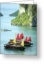 Halong Bay Sails 02 Greeting Card