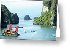 Halong Bay Sails 03 Greeting Card