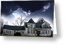Haloween House Greeting Card by Skip Willits