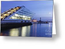 Hamburg Dockland At Night Greeting Card