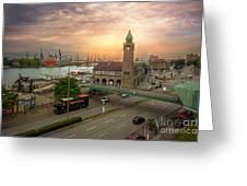 Hamburg Harbor Greeting Card