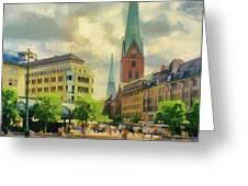 Hamburg Street Scene Greeting Card