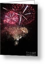 10715 Hamburg Winter Dom Fireworks Greeting Card