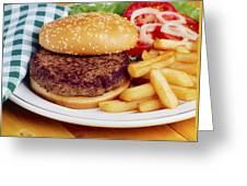 Hamburger & French Fries Greeting Card
