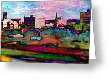 Hamilton Ohio City Art 10 Greeting Card
