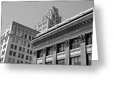 Hamilton Ontario Architecture  Main And James Greeting Card