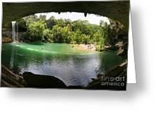 Hamilton Pool Cave Greeting Card
