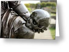 Hamlet Contemplating The Skull  Greeting Card by Terri Waters