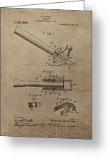 Hammer Patent Drawing Greeting Card