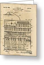 Hammond Organ Patent Greeting Card