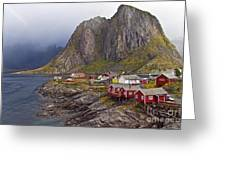 Hamnoy Rorbu Village Greeting Card