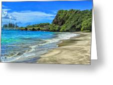 Hamoa Beach At Hana Maui Greeting Card