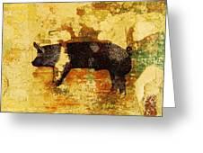 Swedish Hampshire Boar 4 Greeting Card