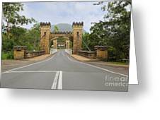 Hampden Bridge Kangaroo Valley Greeting Card