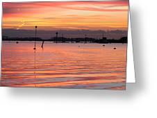 Hampshire Sunset Greeting Card