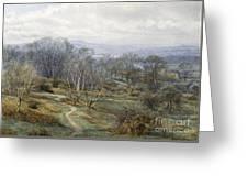 Hampstead Heath Looking Towards Harrow On The Hill Greeting Card