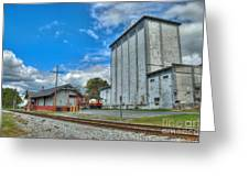 Hampstead Train Station And Grain Mill Greeting Card