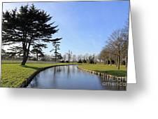 Hampton Court Palace Moat England Greeting Card