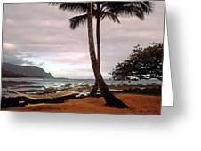 Hanalei Bay Hammock At Dawn Greeting Card