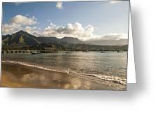 Hanalei Bay Pier - Kauai Hawaii Greeting Card