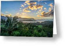 Hanalei Bay Sunset Greeting Card