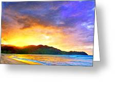 Hanalei Sunset Greeting Card