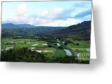 Hanalei Valley Greeting Card
