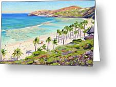 Hanauma Bay - Oahu Greeting Card