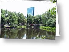 Hancock Building From Lagoon Greeting Card
