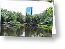 Hancock Building From Lagoon Greeting Card